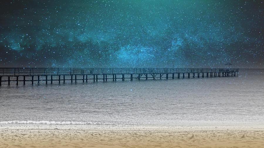 Dreamland Seashore In The Evening by Johanna Hurmerinta