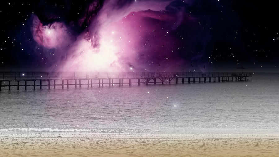 Dreamland Seashore In The Night by Johanna Hurmerinta