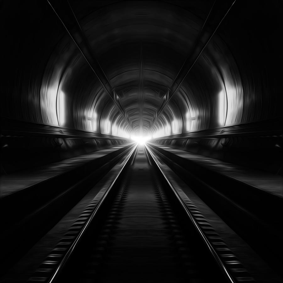 Vanishing Point Photograph - Dreamsgate-spider Tunnel by Ademhabibe