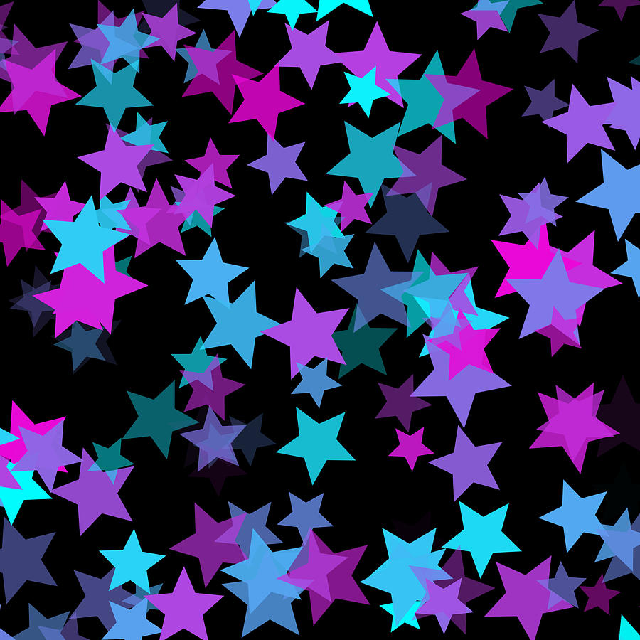 Abstract Digital Art - Dreamy Stars by Abagail Wells