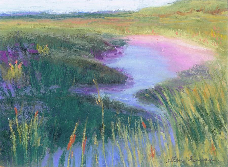 Landscape Pastel - Dreamy Stream by Ellen Kirwan