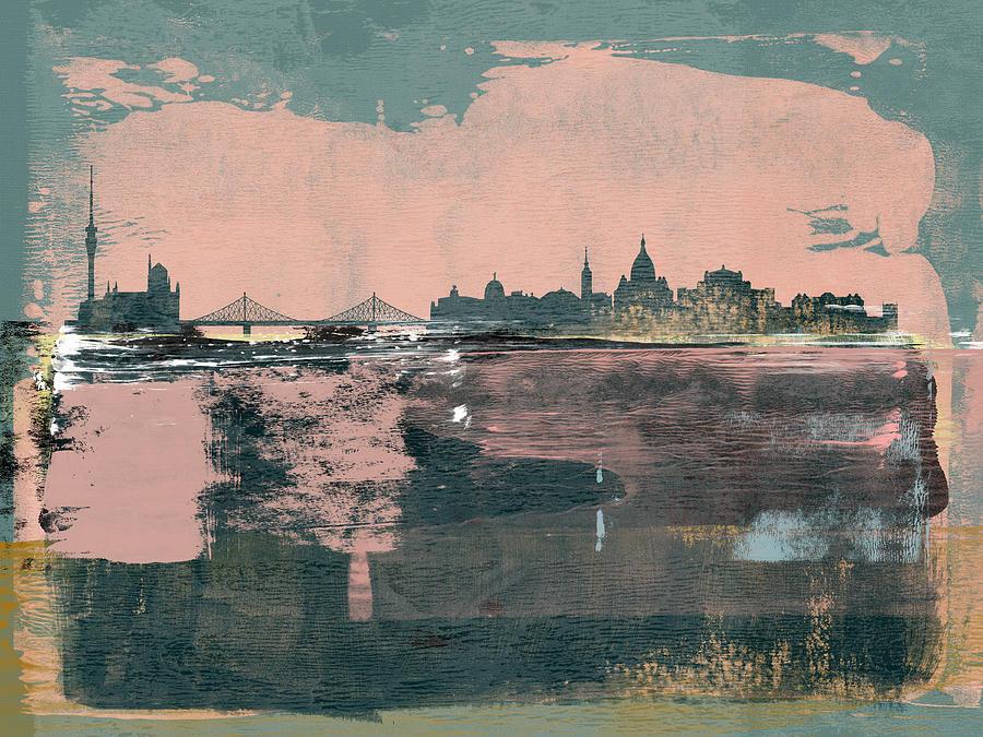 Dresden Mixed Media - Dresden Abstract Skyline  by Naxart Studio