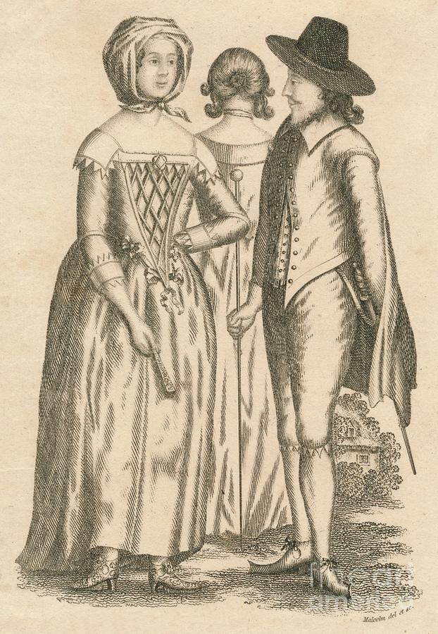 Dress Reign Of Charles Drawing by Print Collector