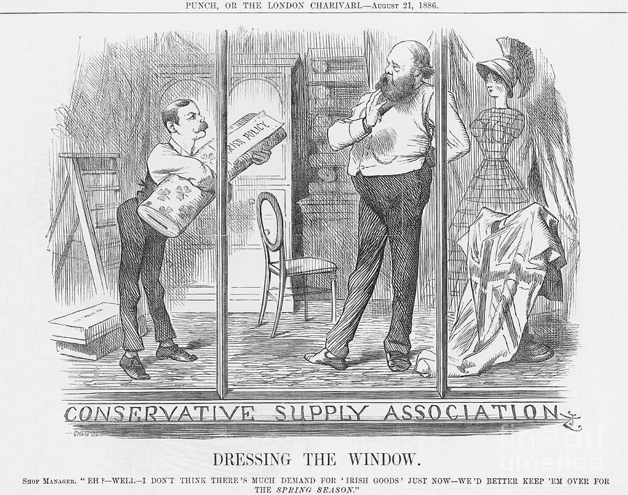 Dressing The Window, 1886. Artist Drawing by Print Collector