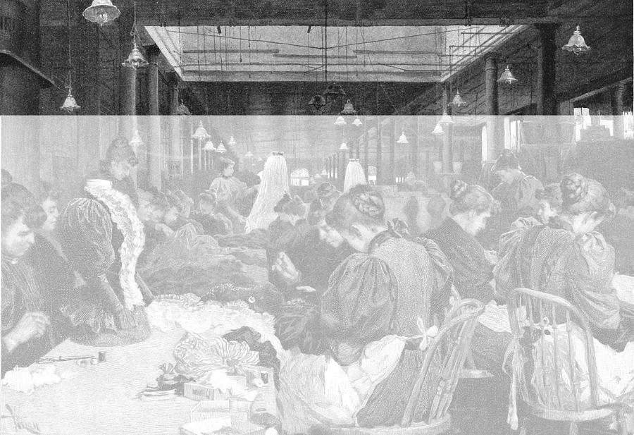 Dressmakers In A Department Store Photograph by Kean Collection