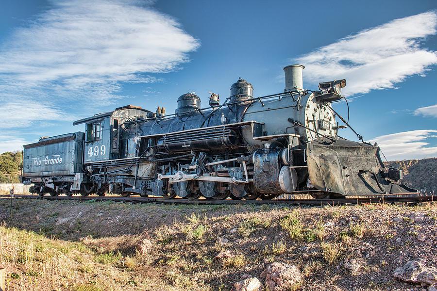 DRGW Steam Locomotive 499 by Kristia Adams