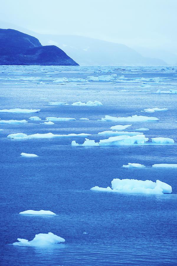 Iceberg Photograph - Drift Ice Along Arctic Coast by Jupiterimages