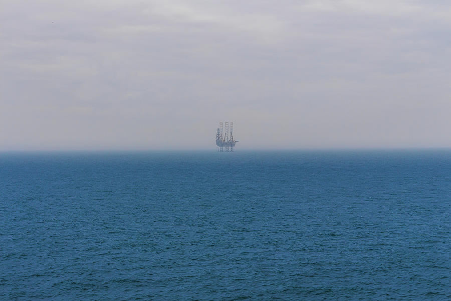 Drilling Rig In The Baltic Sea Photograph