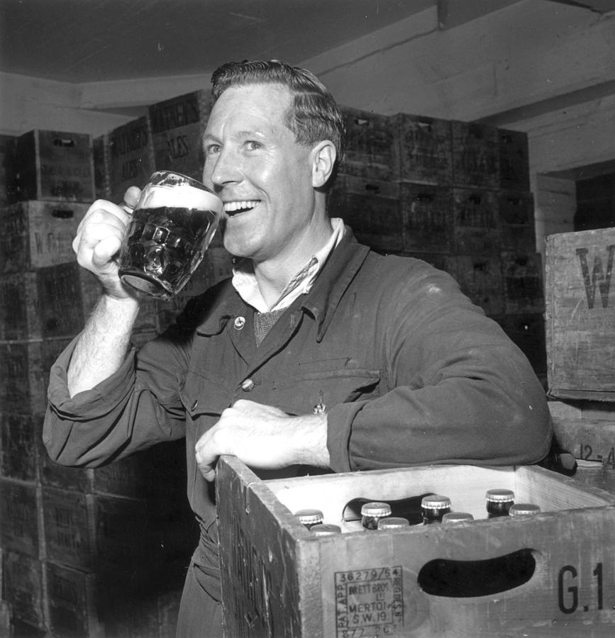 Drinking Beer Photograph by Evening Standard