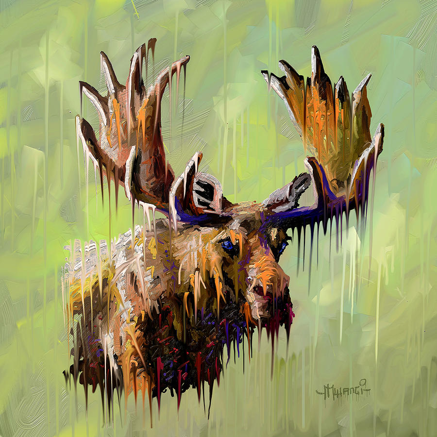 Dripping Moose Painting