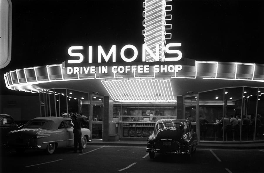 Drive-in Coffee Shop Photograph by Kurt Hutton