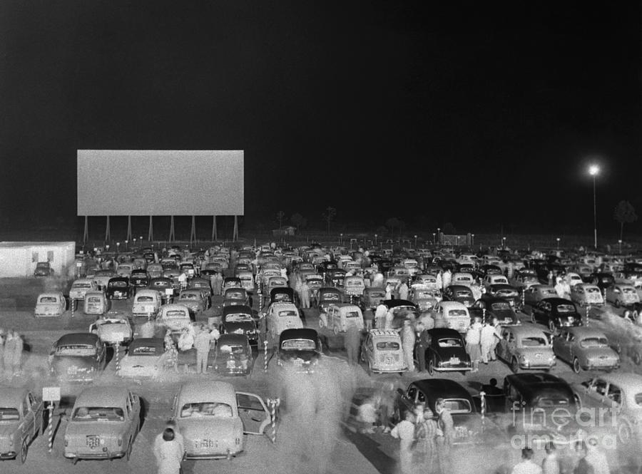 Drive-in Movie Theater In Rome Photograph by Bettmann