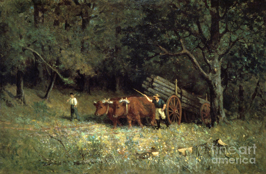 Driving Home The Cows, 1881. Artist Drawing by Print Collector
