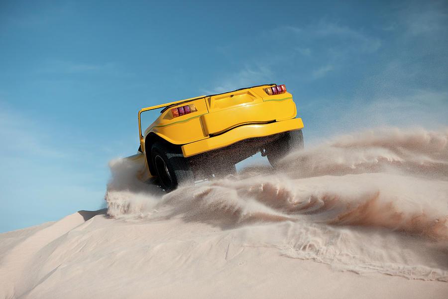 Driving On Sand, Jericoacoara, Brazil Photograph by Tunart