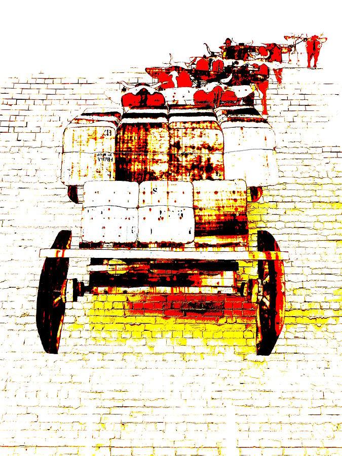 Driving the Bullock Team - Pop Art by Lexa Harpell