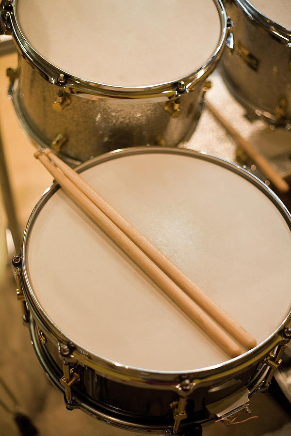 Drum Kit And Drumsticks Photograph by Mixa