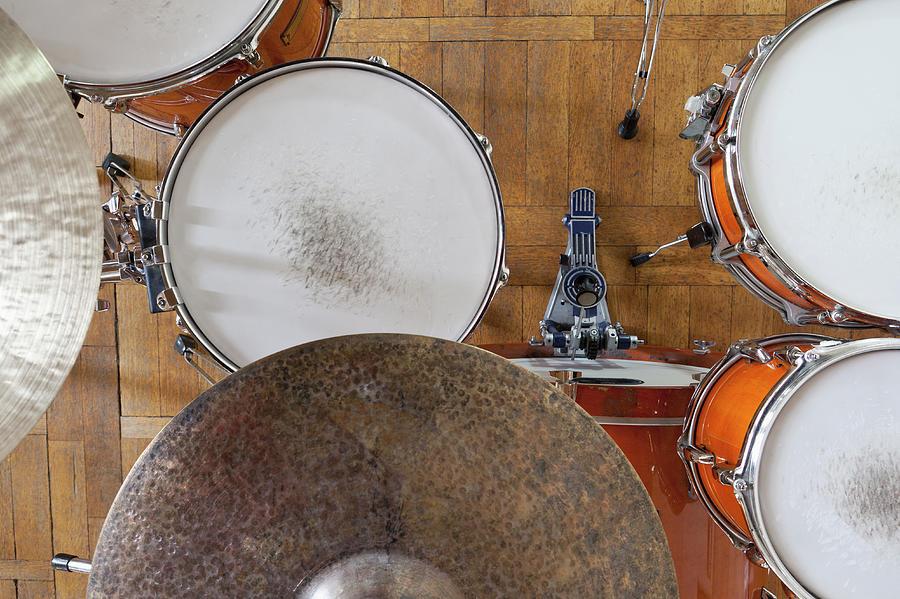 Drum Kit Arrangement Photograph by Halfdark