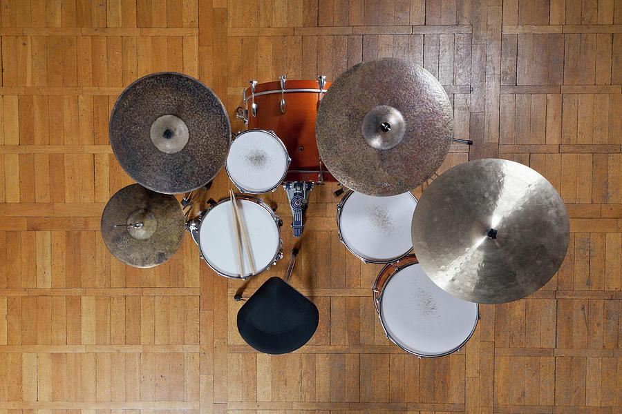 Drum Kit From Above Photograph by Halfdark