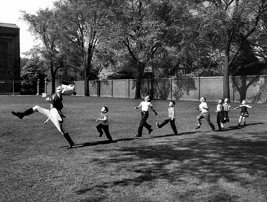 Drum Major Practice Photograph by Alfred Eisenstaedt