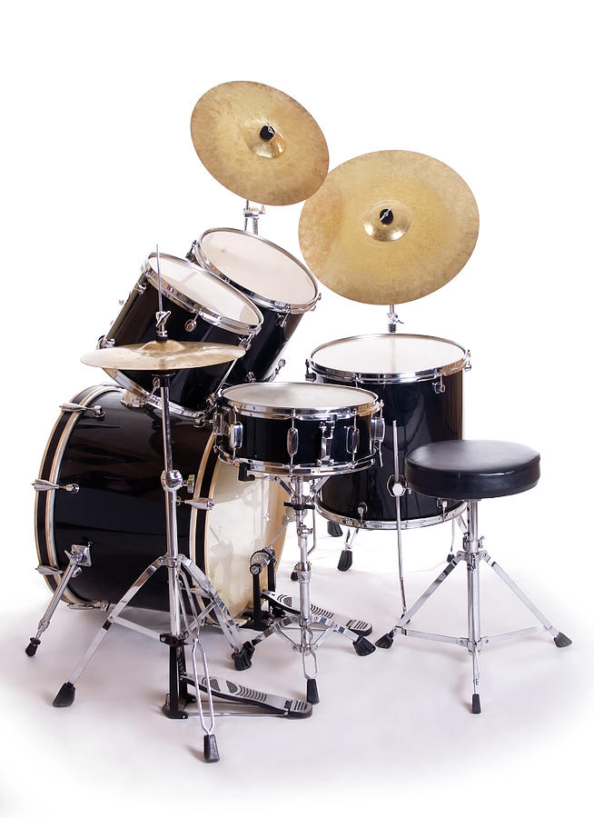 Drum Set On White Five Photograph by Perkus