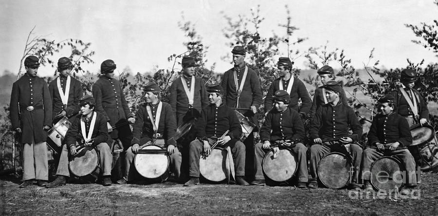 Drummer Boys Of The 61st New York Photograph by Bettmann