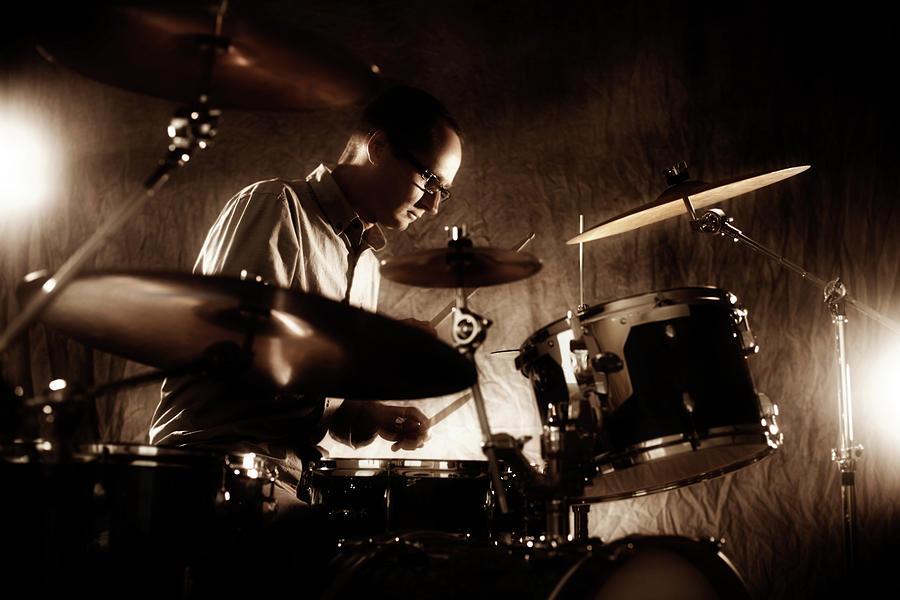 Drummer Photograph by Donald gruener