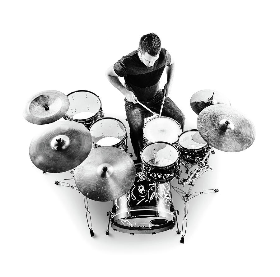 Drummer From Above Photograph