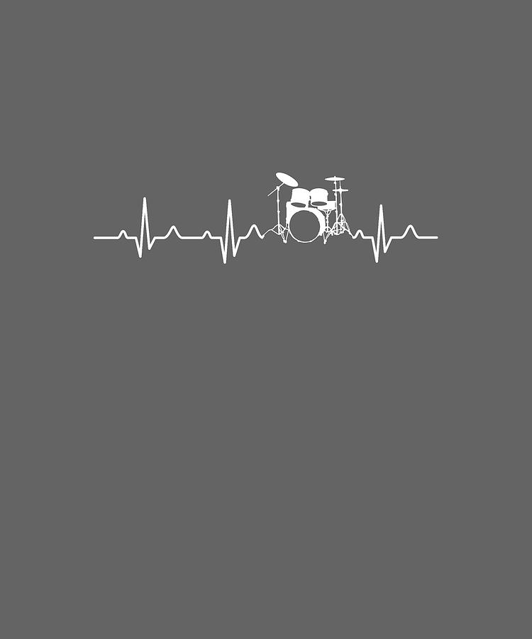 Drummer Digital Art - Drummer Heartbeat For Your Hobbie Tees by Do David