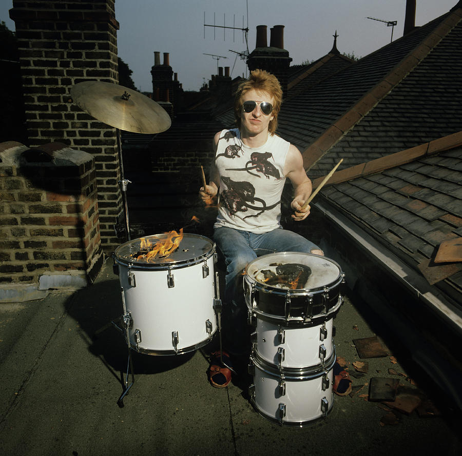 Drummer Rat Scabies Photograph by Fin Costello