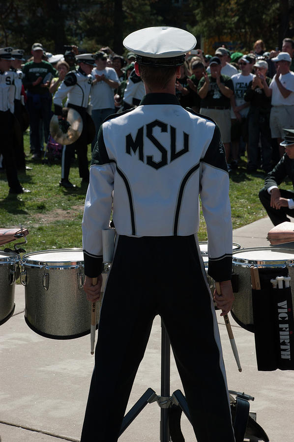 Msu Marching Band Photograph - Drums by Joseph Yarbrough