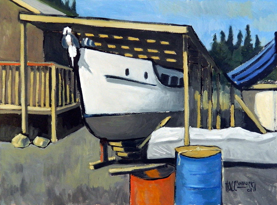 Dry Dock Painting - Dry Dock Repairs by Robert Holewinski