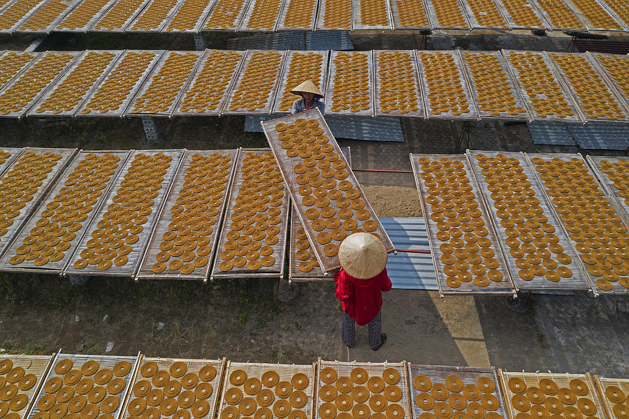 People Photograph - Drying Circle Incense by Azim Khan Ronnie