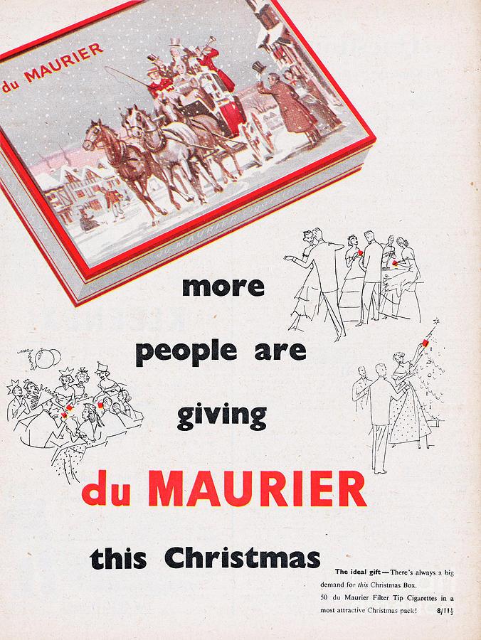 Du Maurier Cigarettes Photograph by Picture Post