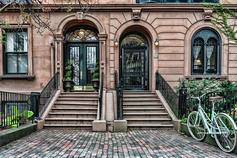 Dual Doors on Beacon Street by Sharon Popek
