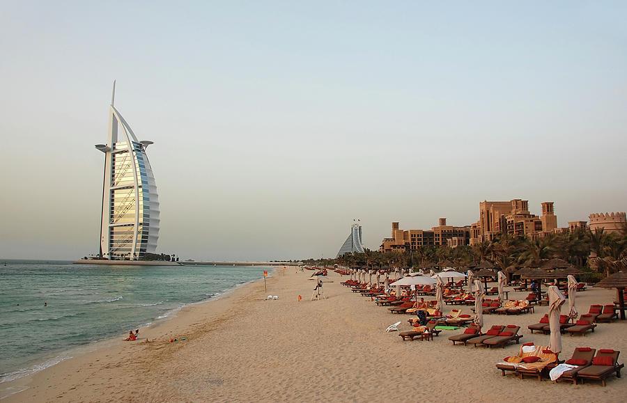 Dubai Beach Photograph by Vinzo