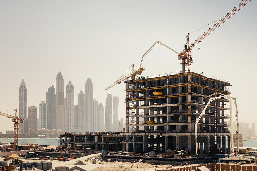 Dubai Construction Photograph by Borchee