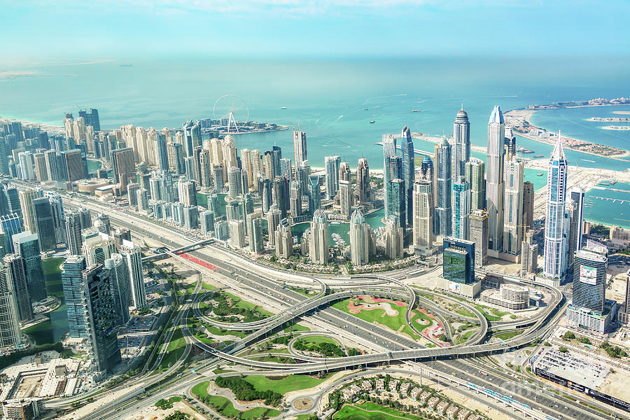 Dubai Photograph - Dubai From Above by Delphimages Photo Creations