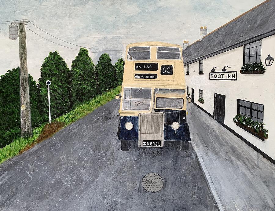 Dublin Painting - Dublin Bus Painting by Martin Dardis