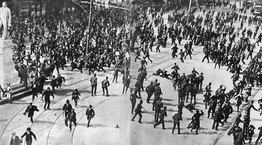 Dublin Riot Photograph by Evening Standard