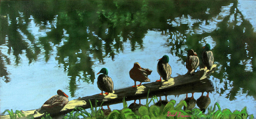 Ducks on a Log by David Zimmerman