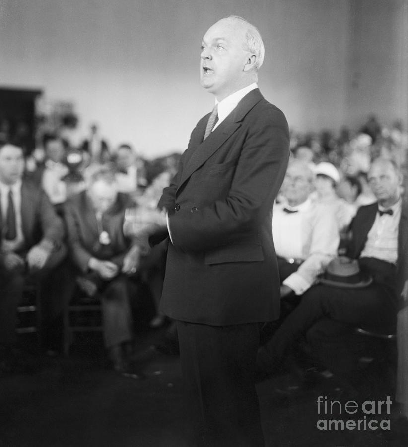 Dudley Field Malone Delivering Speech Photograph by Bettmann
