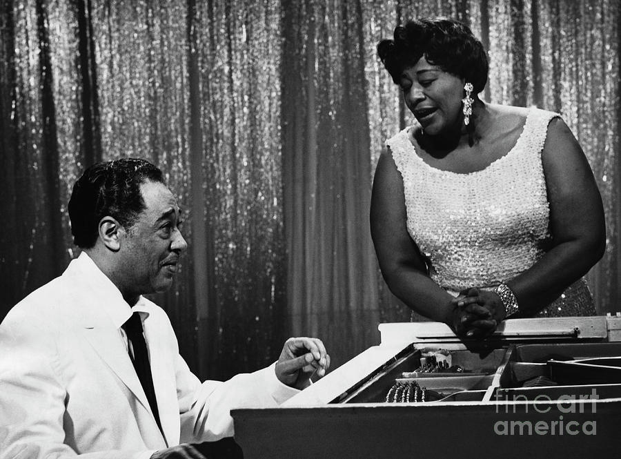 Duke Ellington And Ella Fitzgerald Photograph by Bettmann