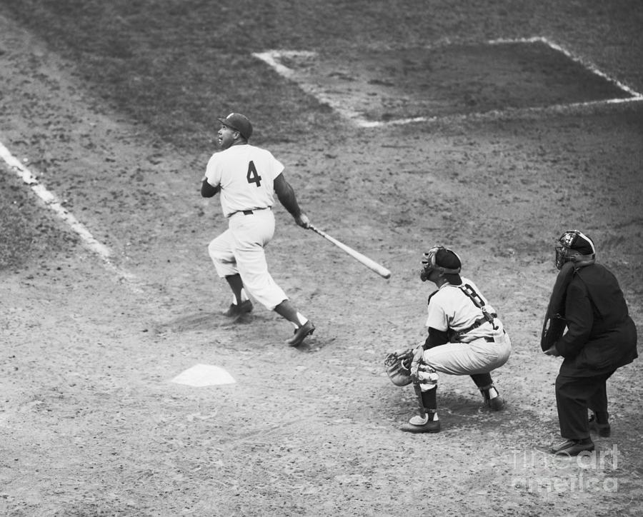 Duke Snider Batting At Home Plate Photograph by Bettmann
