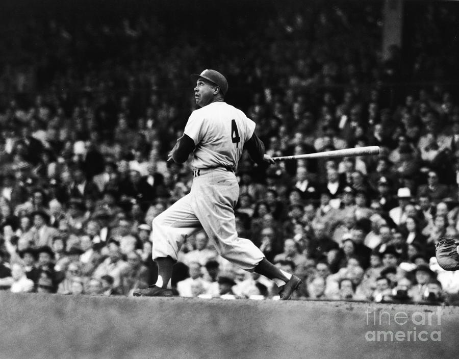 Duke Snyder Gets A Hit Photograph by Robert Riger