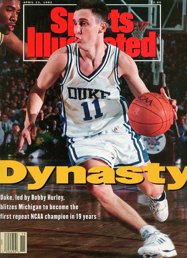 Duke University Bobby Hurley, 1992 Ncaa National Sports Illustrated Cover Photograph by Sports Illustrated
