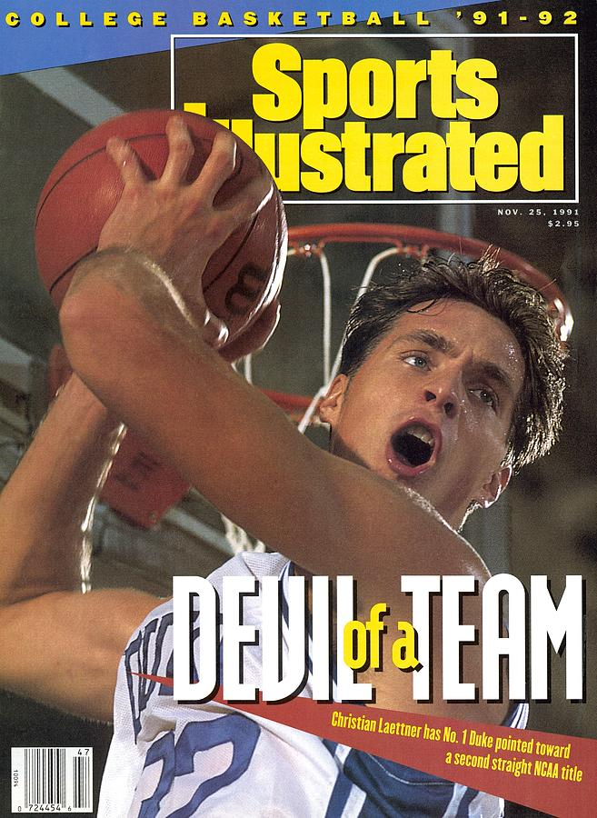 Duke University Christian Laettner Sports Illustrated Cover Photograph by Sports Illustrated