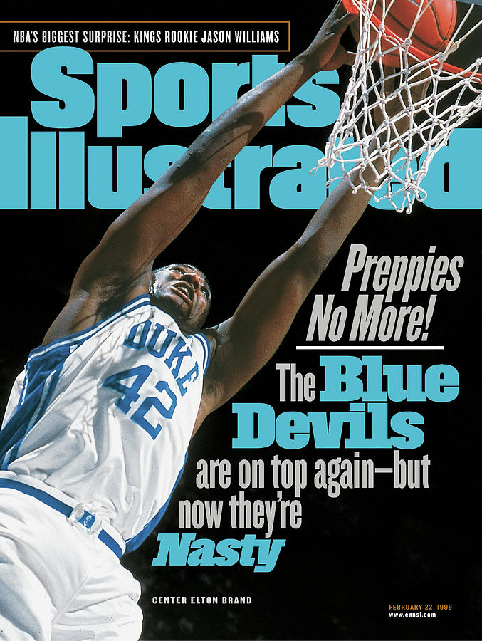 Duke University Elton Brand, 1999 Jimmy V Classic Sports Illustrated Cover Photograph by Sports Illustrated