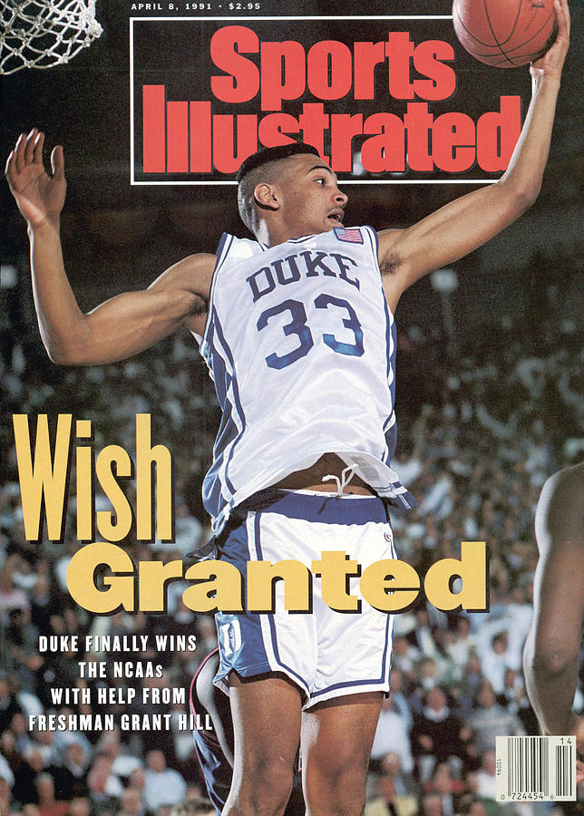 Duke University Grant Hill, 1991 Ncaa National Championship Sports Illustrated Cover Photograph by Sports Illustrated