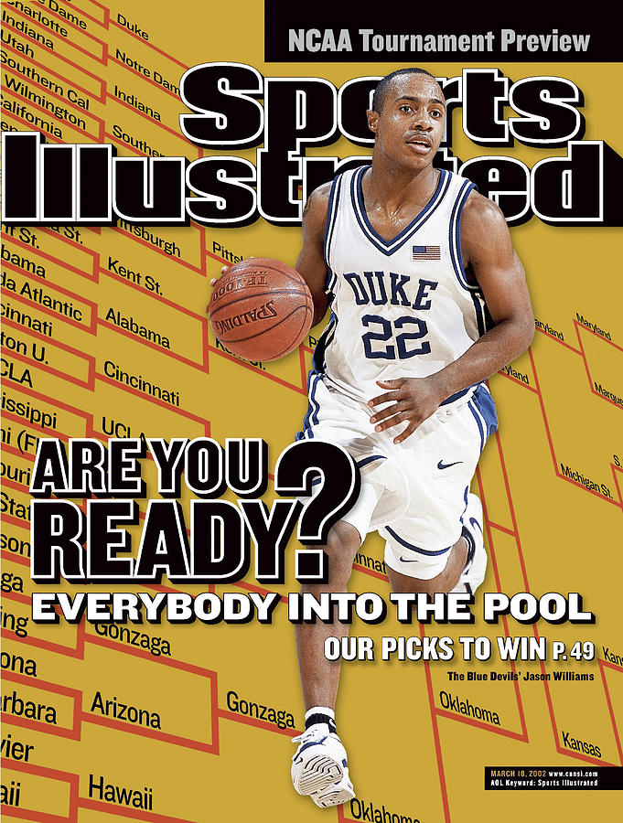 Duke University Jason Williams, 2002 Ncaa Tournament Sports Illustrated Cover Photograph by Sports Illustrated