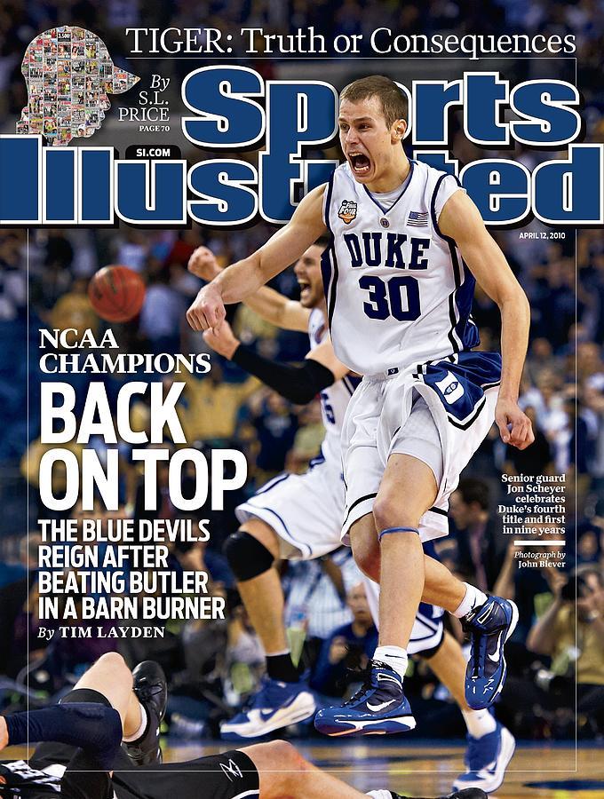 Duke University Jon Scheyer, 2010 Ncaa National Championship Sports Illustrated Cover Photograph by Sports Illustrated